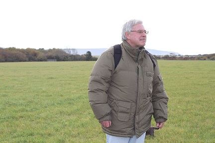 Anthony Woolhouse on the site of the solar farm before installation started